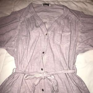 Anthropologie lilac button up jumper